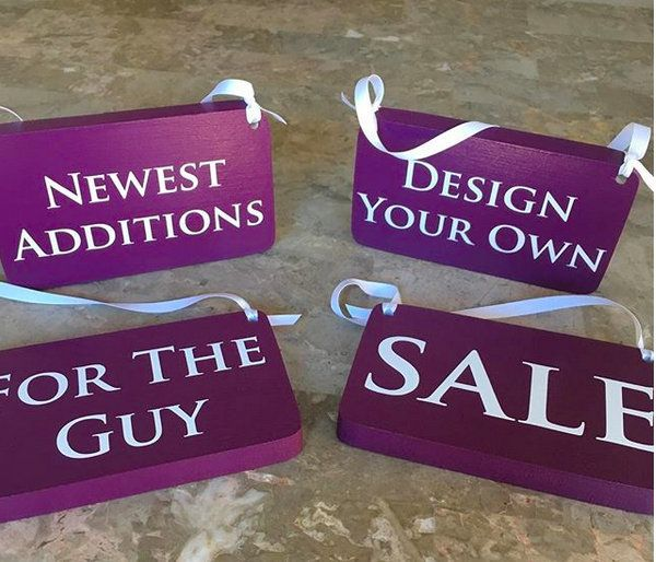 Personalized Signage Boutique Signs With Ribbons Lot Of 4 Etsy For Sale Sign Retail Signs Vinyl Lettering