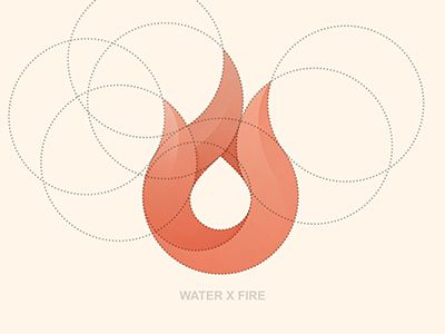 Love the elements. And the colors. And the simplicity. Water X Fire Final Logo by Yoga Perdana