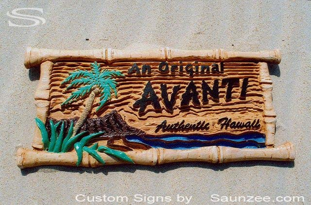 Polyurethane Foam Signs : Saunzee custom d wood look molded signs rigid