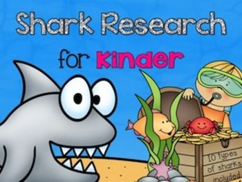 Shark Research for Kinder (83 pages) *This unit researches 10 types of sharks ( Angel, Black Tip Reef, Blue, Bull, Great White, Hammerhead, Lemon, Leopard, Nurse, and Tiger)includes  *Shark Resources page*Shark Research Report pages*My Shark Research book*Full-size Color posters (cartoon figures AND realistic 3D figures) for 10 sharks.*Quarter-sized Color posters (cartoon figures AND realistic 3D figures) for 10 sharks.*Shark Information Page  for each of the 10 sharks.*Sharks can/have/are…