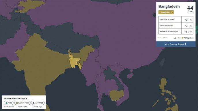 Freedom On Internet Declines In Bangladesh Freedom Bangladesh Free