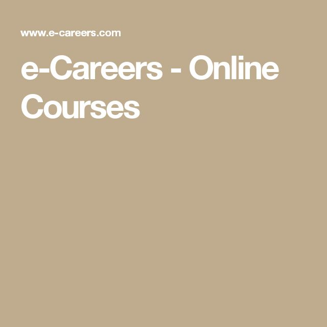 e-Careers - Online Courses
