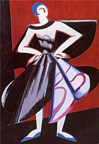 Экстер А.А. «Женский костюм для испанского танца»