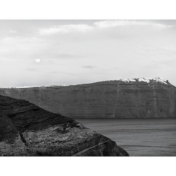"""Moonrise Over Imerovigli, Santorini"""
