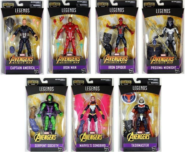 Marvel Legends Avengers Infinity War Wave Iron man Captain america iron spider