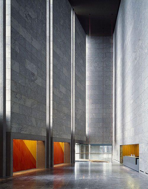 National Bank of Denmark by Arne Jacobsen, 1965. #architecture #denmark #copenhagen