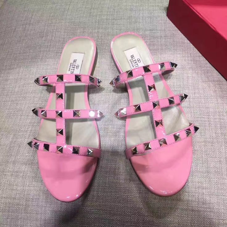 Valentino woman shoes rockstuds flats slippers