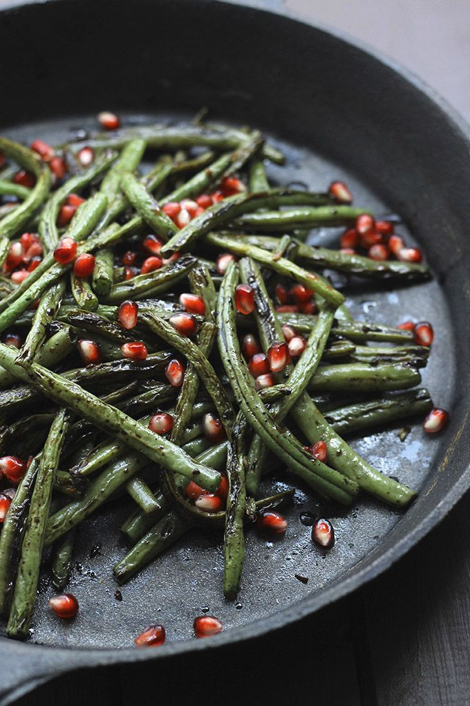 Pan seared green beans are simply prepared, but will add a delicious sparkle as a side dish! This recipe by the Healthy Maven requires just five ingredients and features crispy green beans made tan...