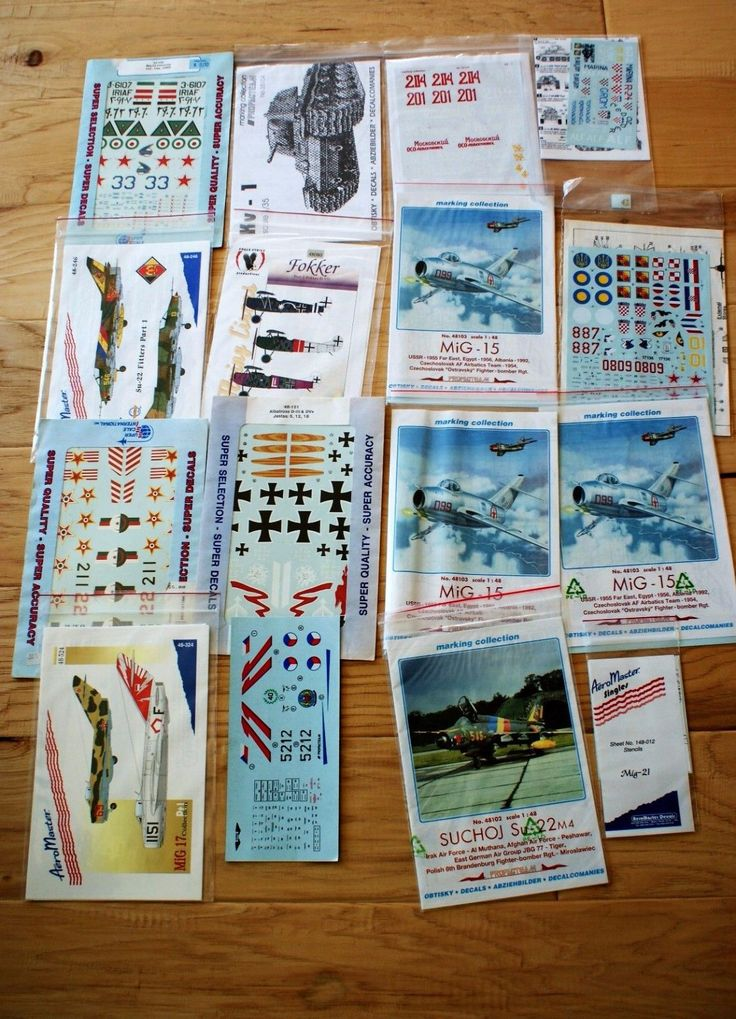 Accessories 50296: Lot 15 Super Scale, Aero Master + Mig Albatross Plane Decal Sets Jy -> BUY IT NOW ONLY: $59.72 on eBay!
