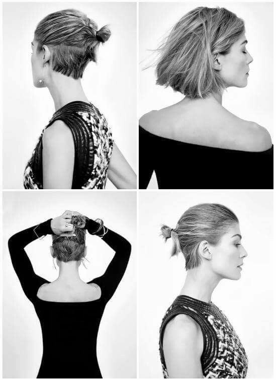 Rosamund Pike #minimal #minimalistgigi | Minimalist GiGi // GiGi I'm so excited for my hair to be long enough to do this.