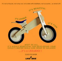 DIY wooden learning bike - no pedals