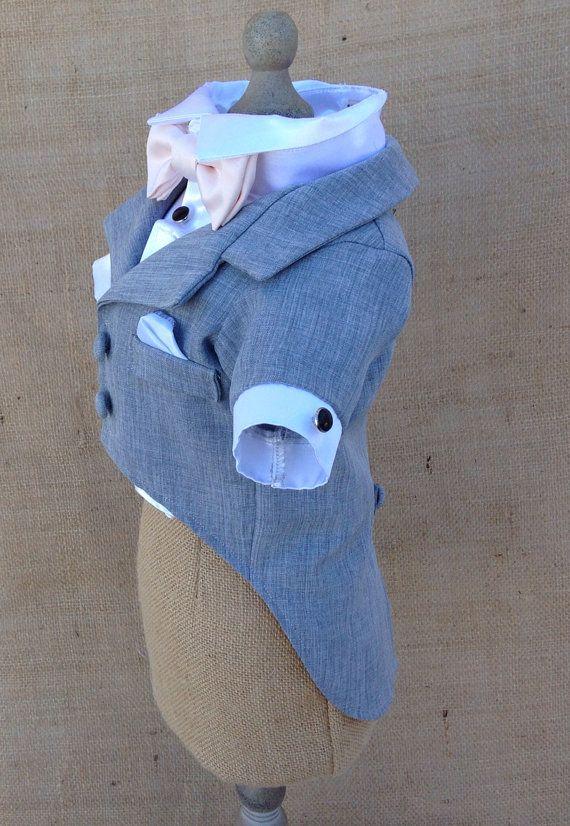 Grey Dog Tuxedo and Satin Shirt custom tuxedo and bow colors
