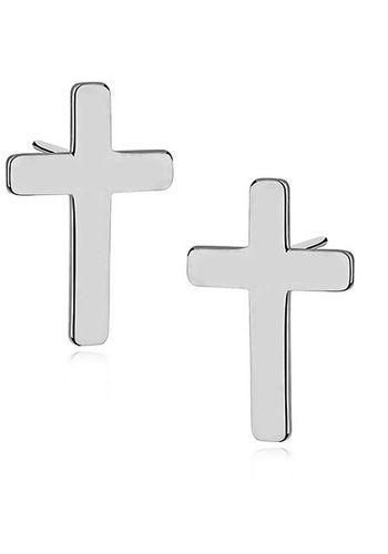 Aros Cruces - Plata 925 SKU:G0045  Largo: 12mm Ancho: 8mm Terminación: chapado en rodio Origen: Europa    Aros de plata 925 en forma de cruces con capa de rodio para asegurar la durabilidad y el brillo. Cierre con tornillo.