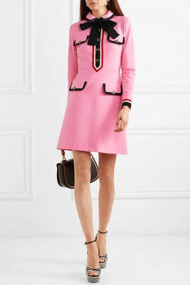 872e08eec Gucci - Grosgrain-trimmed jersey mini dress in 2019 | My Style ...