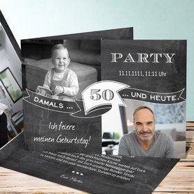 Einladungskarten 50. Geburtstag - selbst gestalten