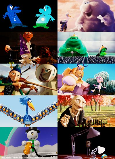 Pixar Short Films The Lamps Snowman And The Chess