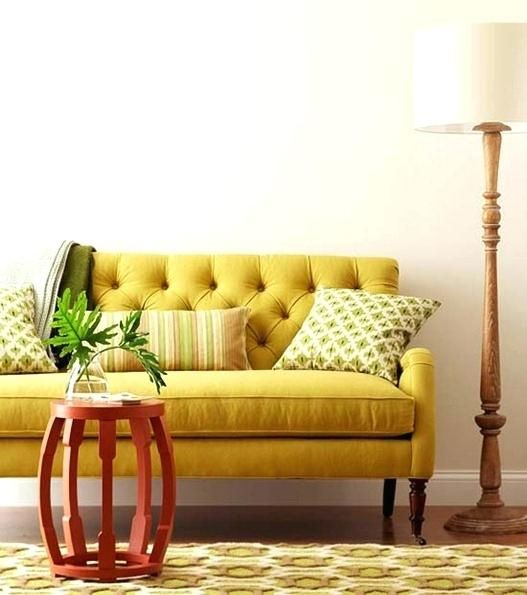 Senfgelb Couch Tufted Couch Decor Tufted Sofa