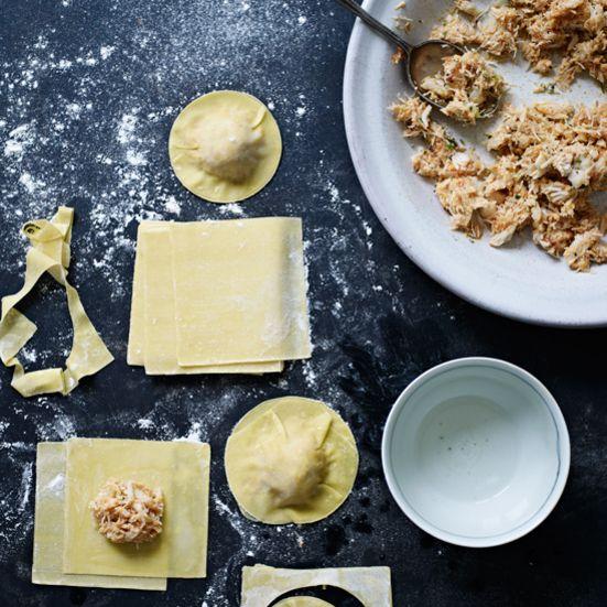 Crab Ravioli with Shallot Cream Recipe - Grace Parisi | Food & Wine