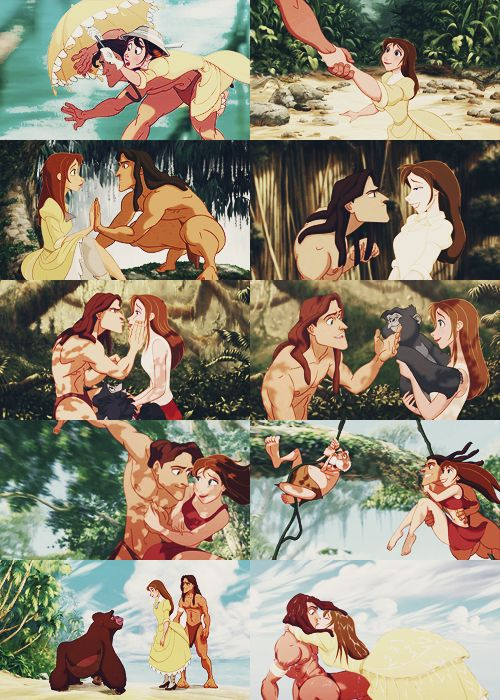 Tarzan and Jane;;; In terms of what would happen to the clothing styles of people who come to our utopia. Eventually they're going to reflect more of the tropical, natural living, and will no longer find their era's clothing a necessity