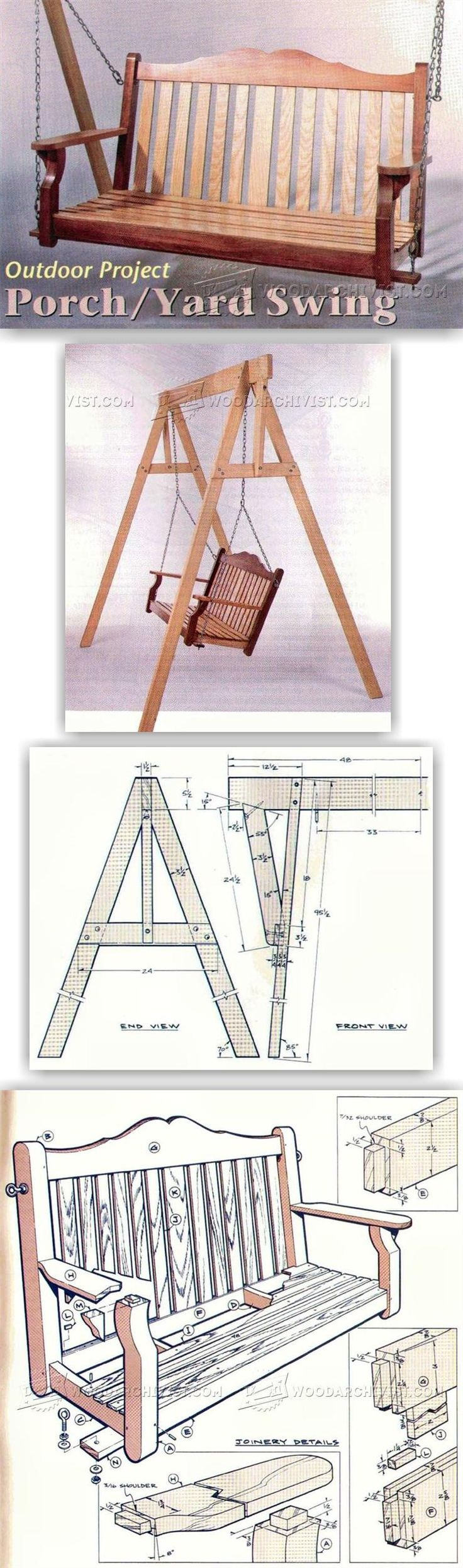 Porch/Yard Swing Plans - Outdoor Furniture Plans and Projects | WoodArchivist.com