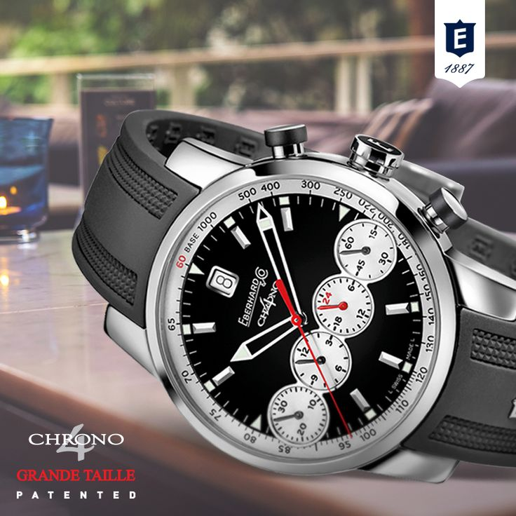 Chrono 4 Grande Taille #4countersinline #patented #registereddesign #revolutionarychrnograph #eberhardwatches