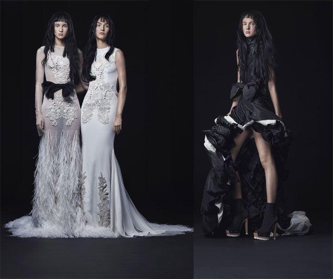 Abiti da sposa 2017 Vera Wang: Vestiti nuziali dallo stile punk rock, Tendenza abiti da sposa 2017, Moda sposa 2017, Nuova collezione sposa 2017