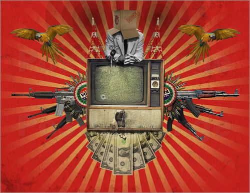 Poster The Revolution Will Not Be Televised! art | decor | wall art | inspiration | collage | home decor | ideas | gift