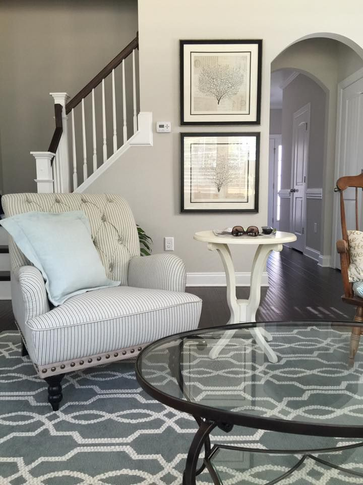 """Sherwin Williams """"Agreeable Gray"""" wall color"""