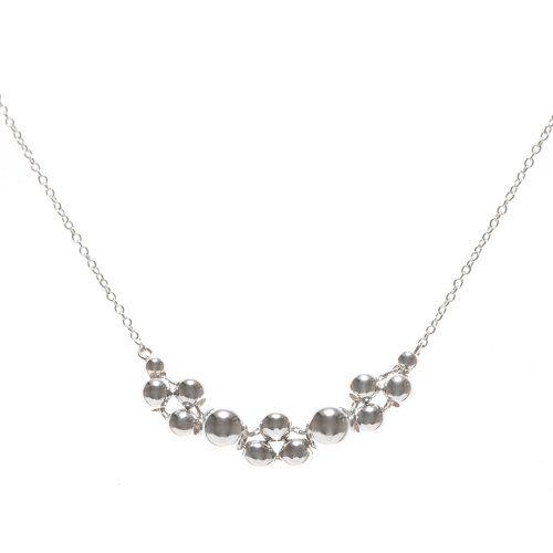 Silver Bubble Sphere Necklace