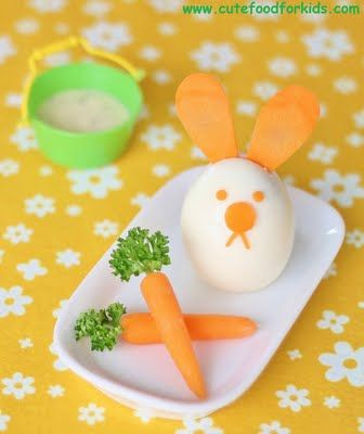 Egg Bunny: Fun Food, For Kids, Food Ideas, Eggs Bunnies, Easter Bunnies, Boiled Eggs, Easter Eggs, Easter Food, Kids Food