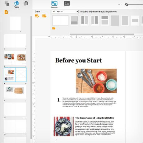 BookWright Screenshots - self publishing book software from Blurb