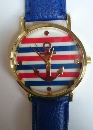 Kup mój przedmiot na #vintedpl http://www.vinted.pl/akcesoria/bizuteria/15080367-zegarek-z-motywem-kotwicy-serdecznie-polecam