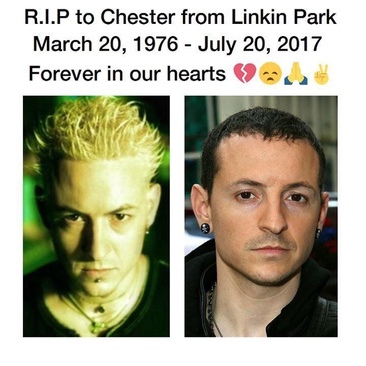 R.I.P. Chester Bennington. I can't believe he's gone , he will be missed so much , another soul that's up there with Mitch