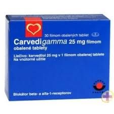 Carverdigamma - contine o substanta numita carvediol si apartine grupei de medicamente alfa si beta-blocante  http://www.medpont.ro/medicamente/carvedigamma-prospect/