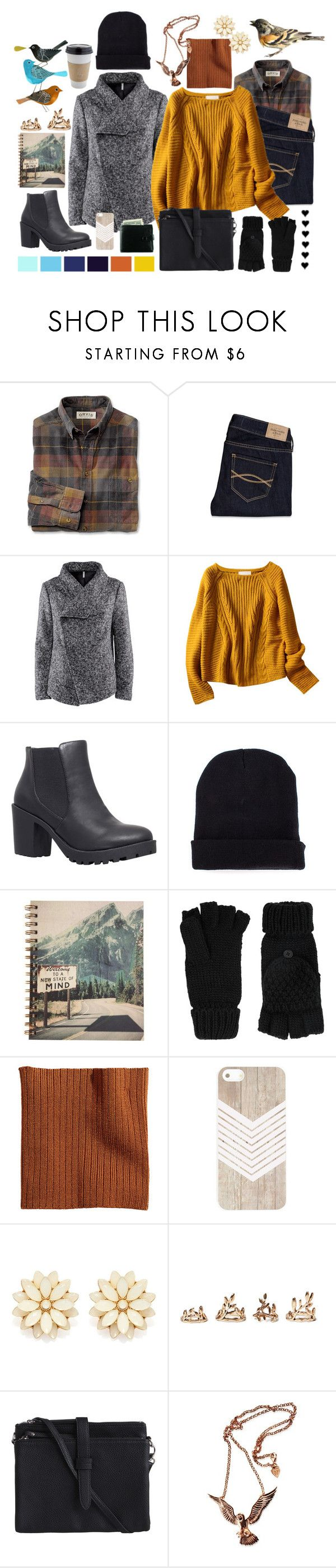 """""""Warm Winter"""" by pantherinae on Polyvore featuring Abercrombie & Fitch, H&M, Carvela, Missguided, Seed Design, Accessorize, OUTRAGE, Forever 21, Pieces and Hjälte Jewellery"""