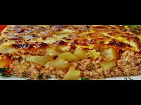 """Картофельная запеканка с фаршем (МУСАКА) ,суп """"ТАРАТОР""""  Болгарская кухня"""