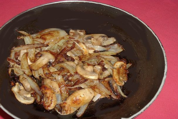 Mushrooms and Onions for Steak. Photo by Bergy