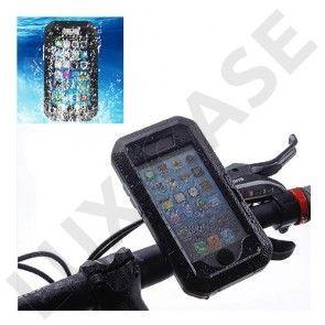 Cykelholder med Stødsikker & Vandtæt Cover til iPhone 6 - Sort