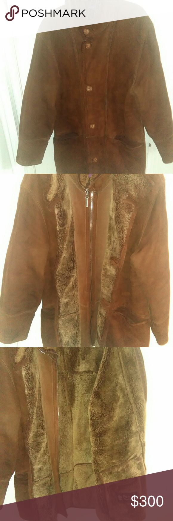 SAN ANTONIO Exclusive Shearling Jacket prep owned. In new condition. Perfect for the weather today. European size 46 SAN ANTONIO Exclusive Jackets & Coats