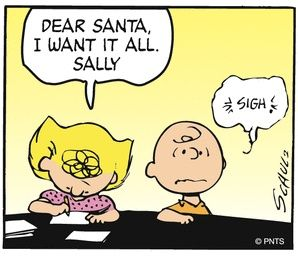 """""""Peanuts"""", by Charles Schultz - here, Sally & Charlie Brown"""