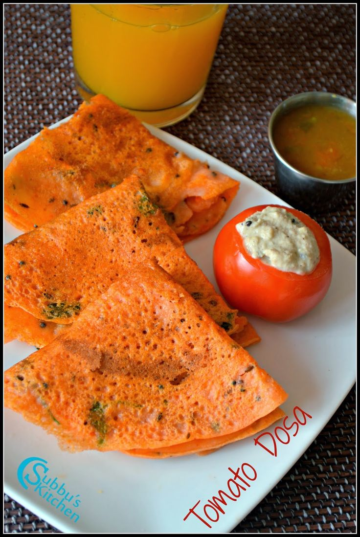 Tomato Dosa Recipe | Thakkali Dosai Recipe | Subbus Kitchen