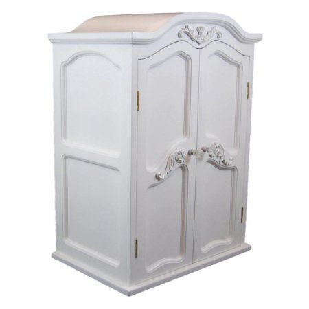 18 inch Doll Clothes Storage Furniture for 18 inch Doll Victorian Coll. French Wardrobe Armoire Trunk, White
