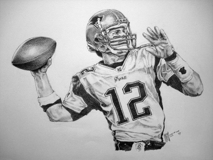 Tom brady drawing the new england patriots tom brady for Coloring pages of tom brady