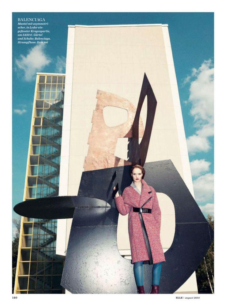 #LuisaBianchin by #GregorHohenberg for #ElleGermany August 2014