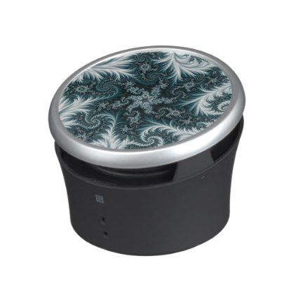Cyan and white fractal pattern. speaker  $42.90  by Veronika2V  - cyo customize personalize unique diy idea