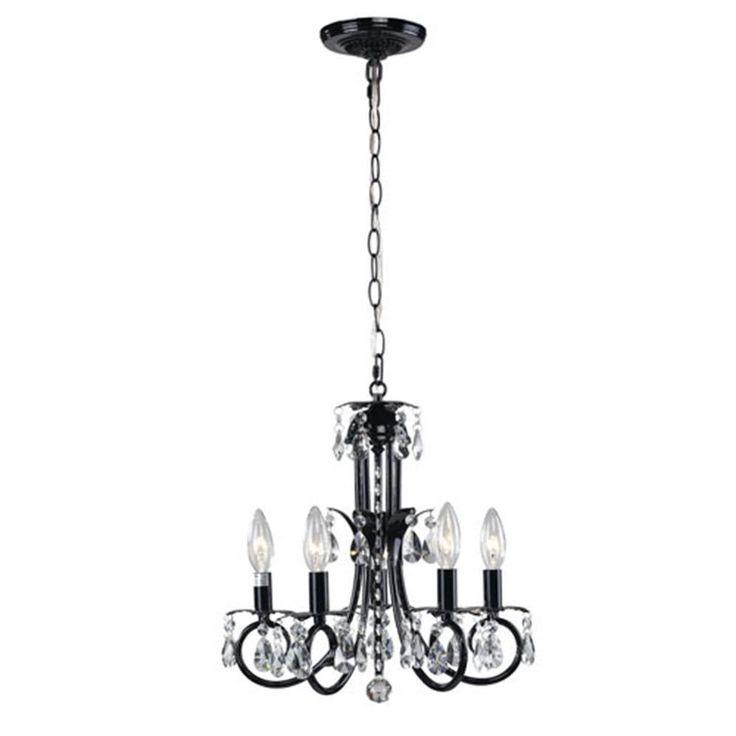 Filament Design Lawrence 5 Light Black Incandescent Ceiling Chandelier