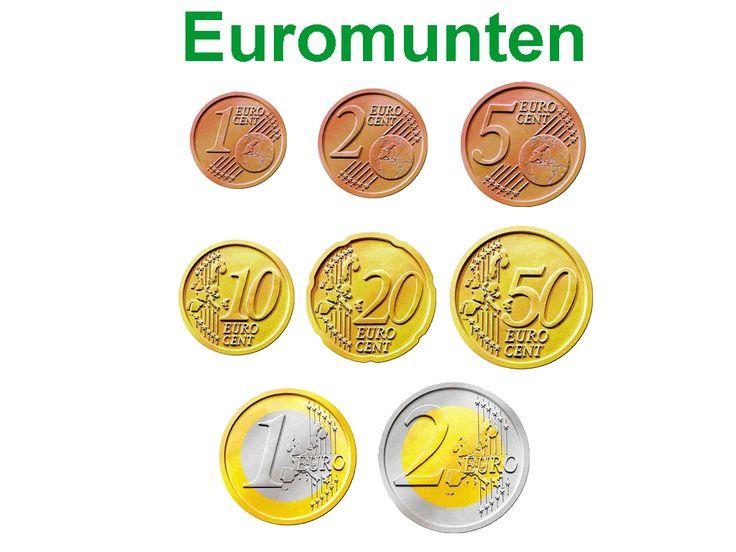 Euromunten voor de kassa