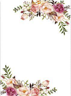 Floral Border Clipart Invitaciones De Boda Con Flores