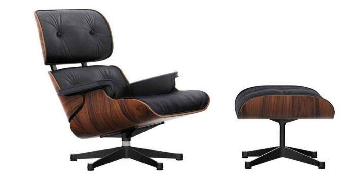 Vitra Loungestoel Eames Lounge Chair Santos Palisander Door