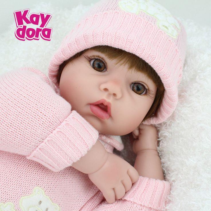 55cm Силиконовые Куклы Reborn детские реалистичные куклы младенцы детские игрушки для дома игрушки для сна коллекционные куклы купить на AliExpress